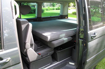 Campingbox / Camperbox in Volkswagen Transporter Mini Camper