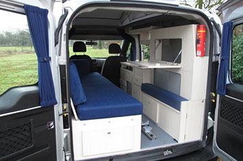 De Ford Transit Connect is de basis voor de minicamper ...